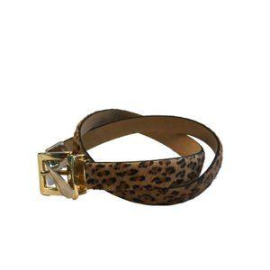 WCM New York Calfskin Leopard Print Belt Small